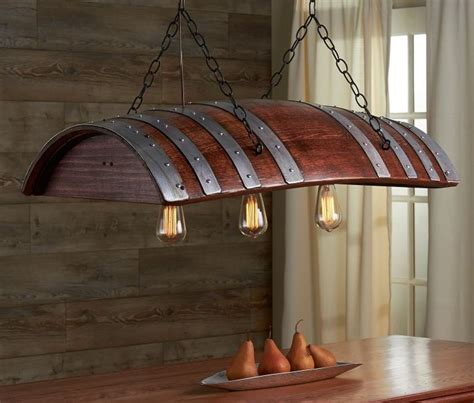 industrial chic outdoor lighting oak wine barrel turned into industrial chic