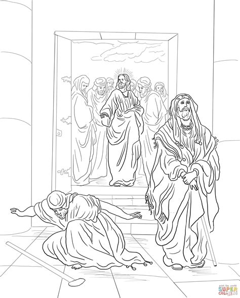 pharisee free colouring pages