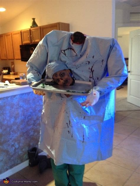 headless zombie doctor costume diy costumes