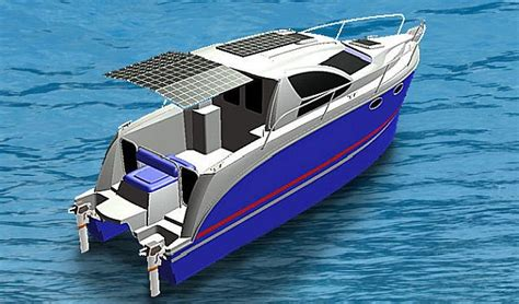 catamaran electric motor e mc 29 super hybrid electric boat to sail green on the