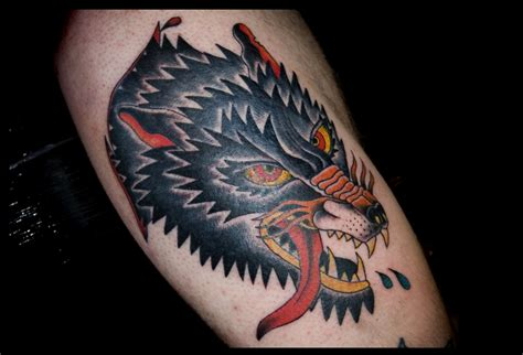 traditional wolf head tattoo wolf traditional flash