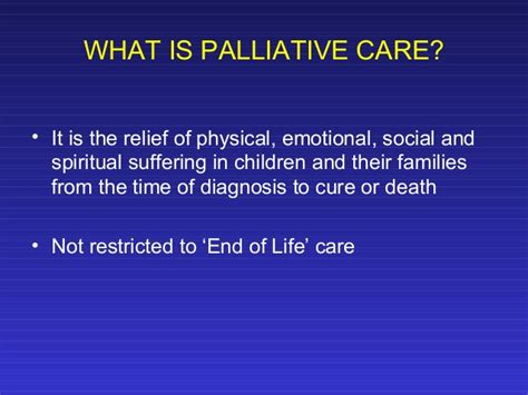 what is comfort care at the end of life palliative care in pediatric patients