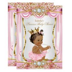 Princess Baby Shower by Princess Baby Shower Pink Silk Gold Card Zazzle