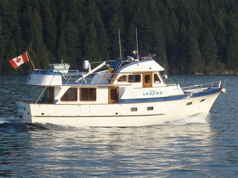 legend boats for sale in bc 1981 defever 49 pilothouse power boat for sale www