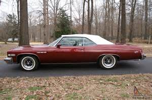 1975 Buick Lesabre Convertible 1975 Buick Lesabre Custom Convertible With 455 Ci Engine