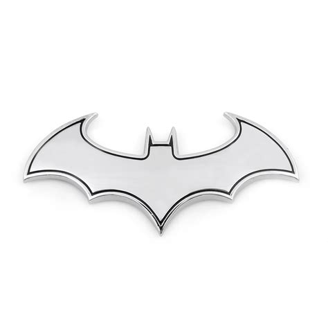 Sticker 3d Silver Bat Metal Emblem For Mazda 2 supercool metal batman logo car emblem bat badge car