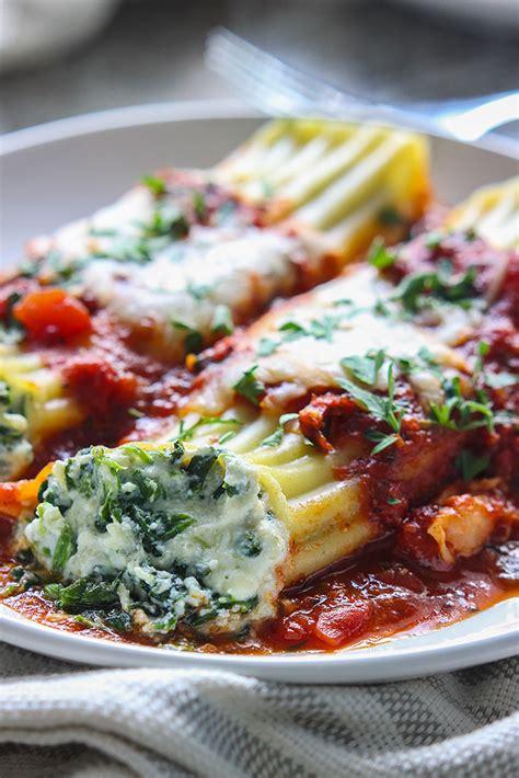 best manicotti spinach and ricotta manicotti recipe dishmaps