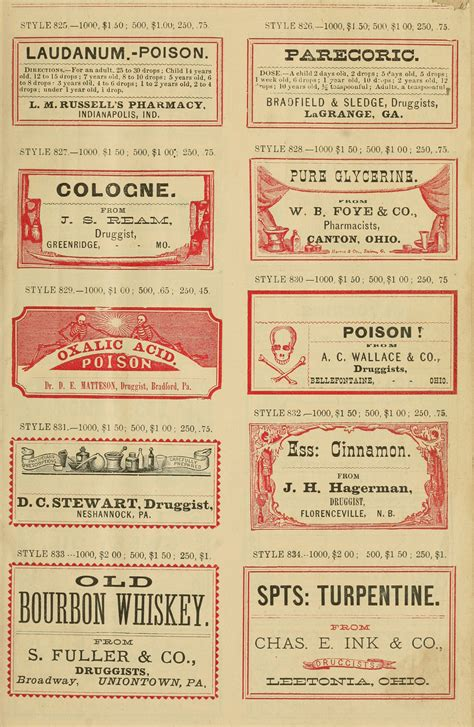 printable apothecary labels vintage apothecary labels no 4 oh so nifty vintage graphics