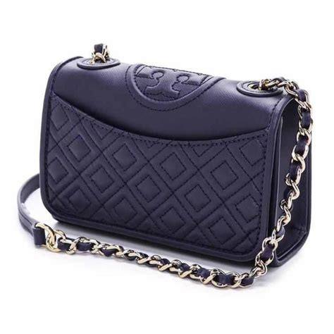 20 burch handbags burch mini fleming bag in navy blue from estelle s closet on
