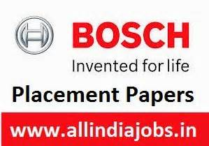 Robert Bosch Careers For Mba by Robert Bosch Placement Papers Pdf 2017 2018
