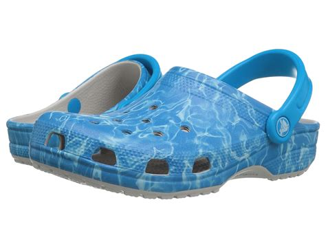 croc water shoes crocs classic water graphic clog at zappos