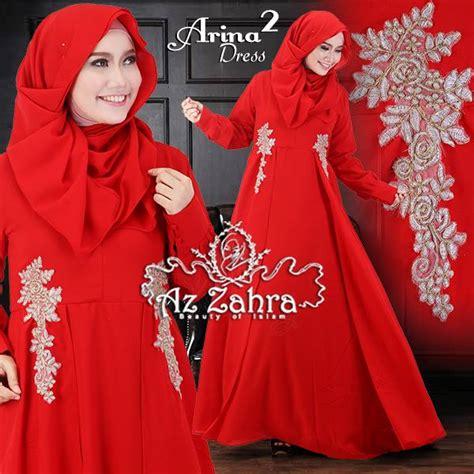 Arina Syar I Purple arina 2 baju muslim gamis modern