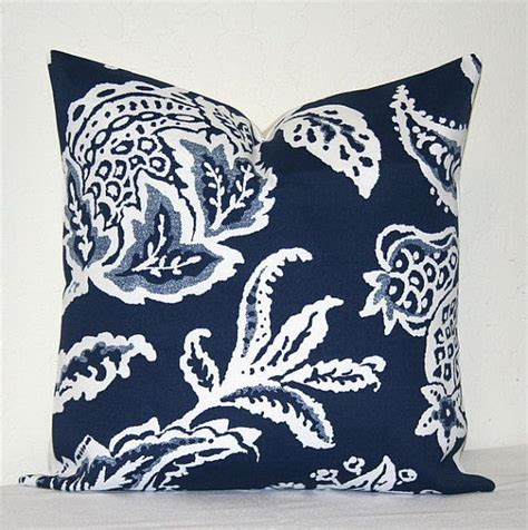 Navy Blue Accent Pillow by Navy Blue And White 18 Inch Decorative Pillows Accent