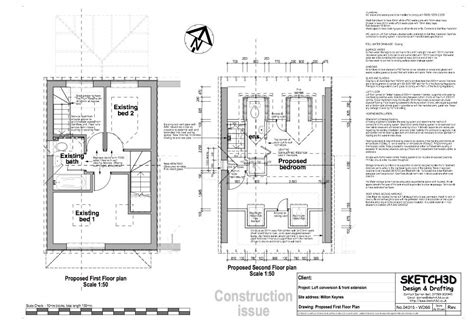 Loft Conversion Floor Plans | exle loft conversion plan 3
