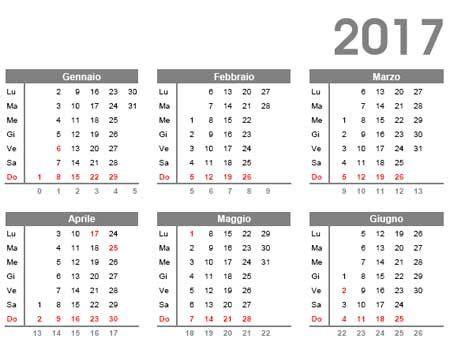 calendario 2017 da scaricare gratis e stare