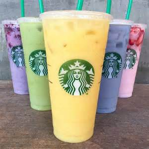 colorful starbucks drinks 5 new rainbow colored starbucks secret menu drinks
