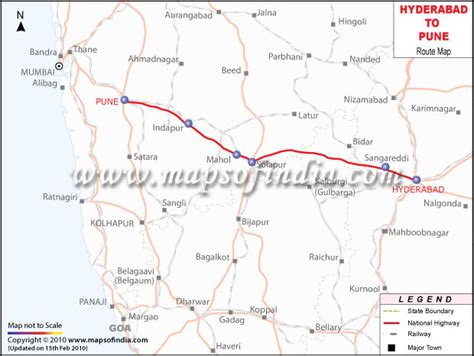 Hyderabad to Pune Route Map