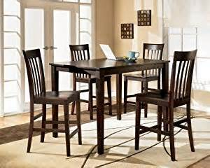 amazon com brown 5 piece counter height dining set table