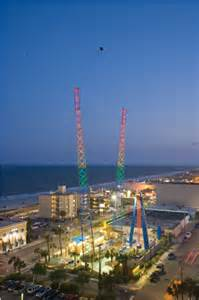 Galerry Sling Shot Thrill Ride in Myrtle Beach South Carolina