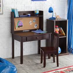 kidkraft desk kidkraft pinboard desk with hutch chair 27150