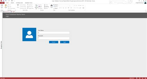 Microsoft Access Login Form Template Microsoft Access Custom Login System