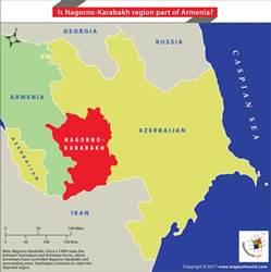 map of armenia and azerbaijan is nagorno karabakh region part of armenia answers