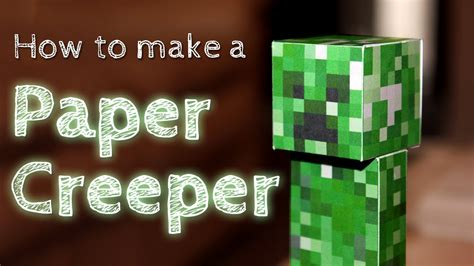 How To Make A In Paper - how to make a paper creeper