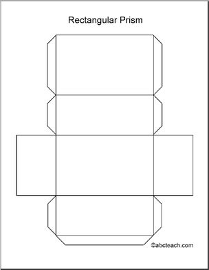 How To Make A 3d Rectangle Out Of Paper - best photos of 3d rectangle template printable cut out
