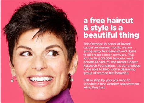 penneys new haircut free haircuts in october for breast cancer survivors at