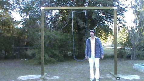 how to build a swing set for adults easy diy swing set youtube