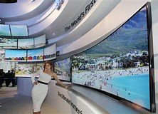 Image result for What is the biggest curved TV?. Size: 222 x 160. Source: theconversation.com