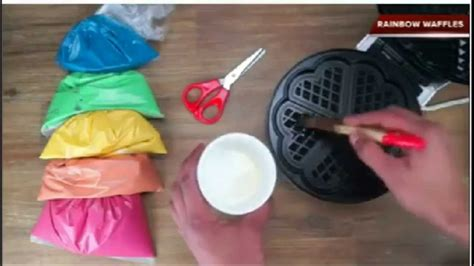 youtube membuat waffel resep cara membuat rainbow waffle resep kue youtube