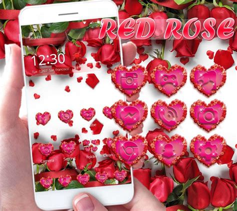 rose themes live red rose live wallpaper theme android apps on google play