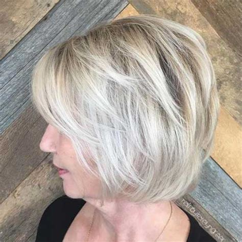 platinum hair color and cuts for over 50 women pictures pretty bob haircuts for older women bob hairstyles 2017