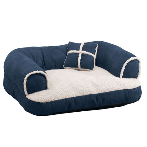 bed couch pillow comfy pet bed couch with pillow by collections etc ebay