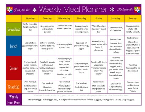 printable healthy meal planner meal planning so simple even a gym bro can do it