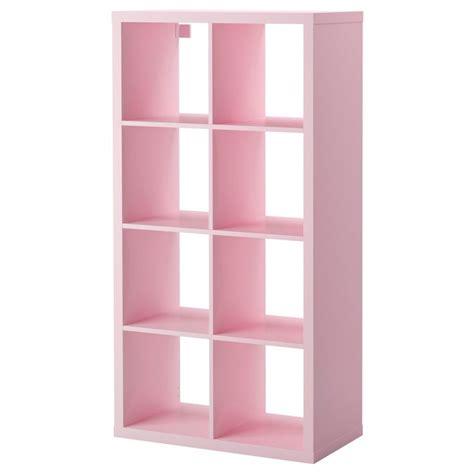 kallax shelving unit light pink