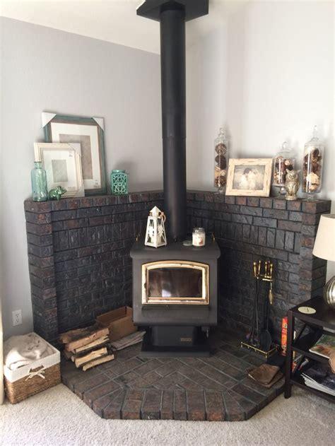 Corner Stove Fireplace Best 25 Corner Wood Stove Ideas On