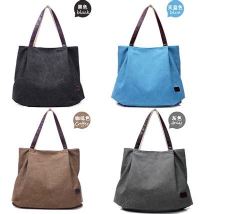 Hls Kacamata Fashion Wanita Vintage tas tote fashion wanita retro canvas bag gray