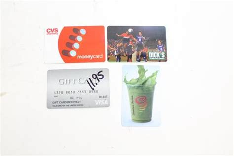 Dicks Sporting Good Gift Cards - dick s sporting goods and other gift cards 4 pieces 52 82 property room