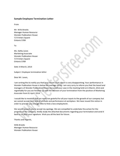 Finish Contract Letter To Employer Best Photos Of End Of Employment Letter Template Employment Termination Letter Sle