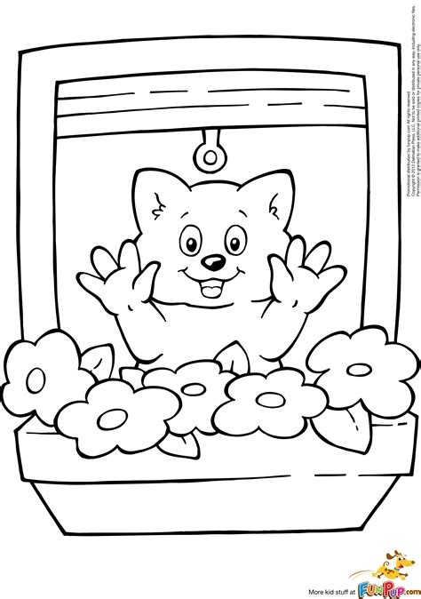 printable window coloring page sketch coloring page