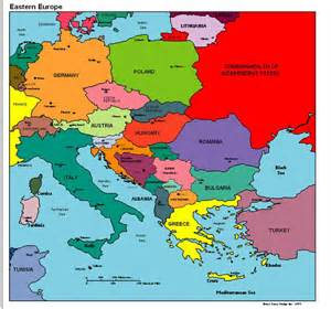 Map Of East Europe by Eastern Europe Political Map Vacations In Eastern Europe