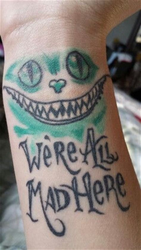 tim burton tattoo cheshire cat alice in wonderland