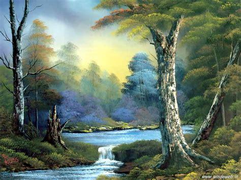 bob ross painting moon foto paesaggi dipinti