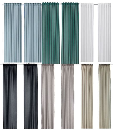 Ikea Vivan Sheer Window Panel Curtains Pair 145cm X 250cm