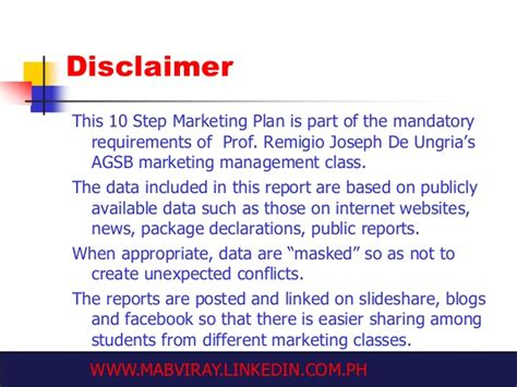 Of Delaware Mba Requirements by The 10 Step Marketing Plan Bpi Blue Mastercard