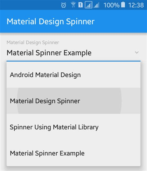android material design layout exles android material design spinner dropdown exle viral