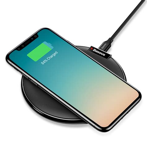 Charger Wireless Apple Iphone X 8 8 Plus Ios Android Note 8 S8 Plus מוצר baseus ix qi wireless fast charger pad for iphone 8 8 plus x fast charging pad
