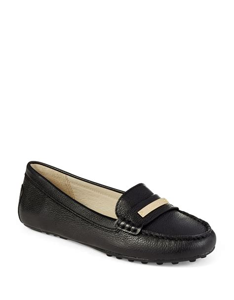michael kors black loafers michael michael kors everette loafers in black lyst